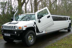 White Hummer Limo - 13 & 16 Seater